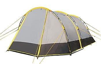 Ribelli Tente de Camping Tunnel Tente pour 4 Personnes avec Colonne d'eau 3000 mm Gris