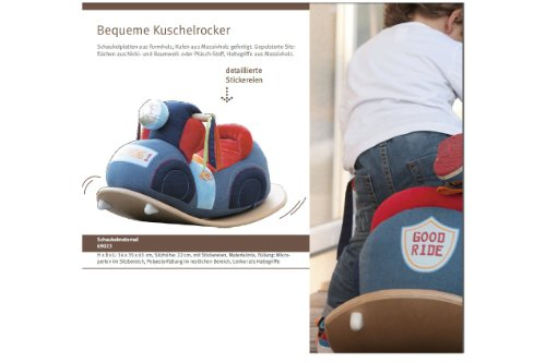roba Schaukelmotorad, Schaukelspielzeug mit weicher Stoff-Polsterung, Schaukelsitz für Kleinkinder ab 18 Monate - 3