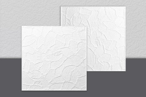Decosa - Placa de Techo Valencia Pack de 2 M2 - Medidas : 50 X 50 Cm - Color : Blanco