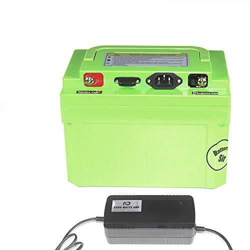 LiRongPing IP68 impermeabilizzano 72V Ebike Batteria 72 Volt 20Ah 30Ah 3000w 2000w Ricaricabile Ebike Batteria for Eletronic Bici con Caricatore (AC : C, Size : 72V30AH3000W)