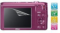 【高光沢】Nikon Coolpix A300/A100/A10用 指紋防止 高光沢 気泡ゼロ カメラ液晶保護フィルム (5.38x4.04cm) 機種対応 (1枚セット)