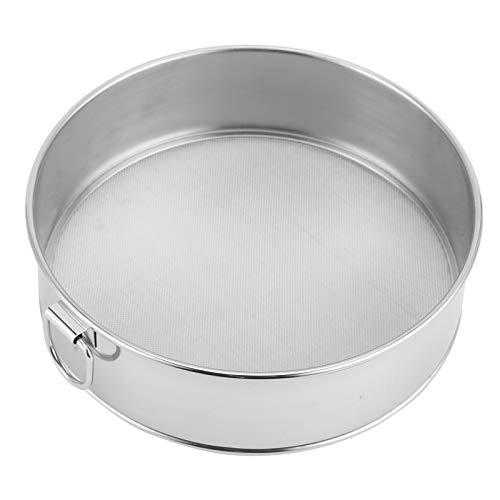 Tamiz redondo de harina de accesorios de cocina para hornear en polvo tamiz de 15 cm, colador de harina en polvo, tamiz de malla fina colador de acero inoxidable para harina