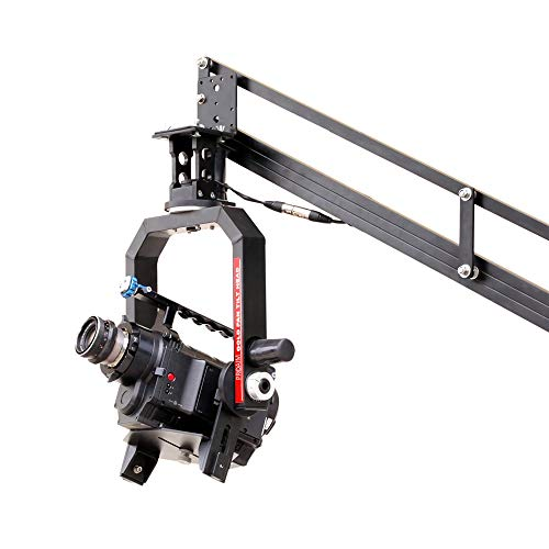 PROAIM Gold Camera Pan Tilt Head with 12V Joystick Control (PT-Gold) | Motorized Pan Tilt Head for Jib Crane Tripod DV Video DSLR