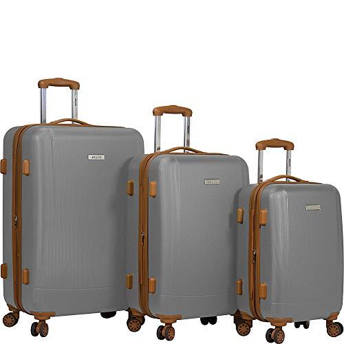 Dejuno Legion 3-pc Hardside Spinner TSA Combination Lock Luggage Set, Silver, One Size