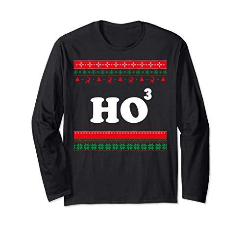 Ho Ho Ho Matematica Chistmas, brutto maglione natalizio Maglia a Manica