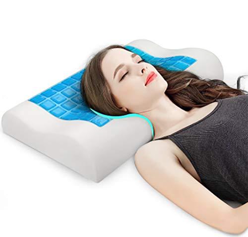 Xiaoyezi Bedsure Memory Foam Konturkissen, ergonomisches orthopädisches festes Kissen zur Nackenstütze, Halskissen gegen Nackenschmerzen, zum Schlafen, Standardgröße,M