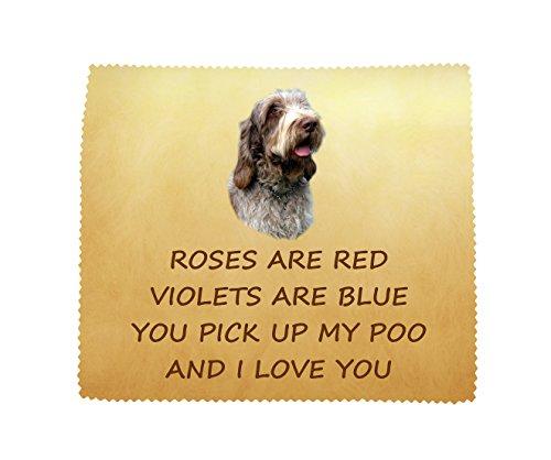 Italiaanse Spinone 'I Love You' microvezel doek leuk nieuwigheid geschenk van de hond