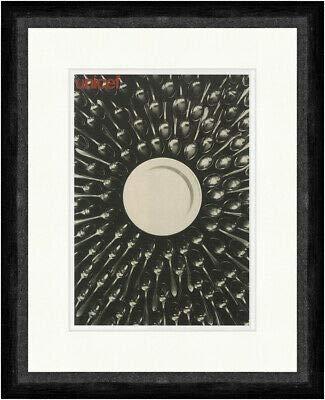 Kunstdruck unicef Jukka Veistola 1969 Werbeplakat Besteck Teller Faks_Plakatwelt 653