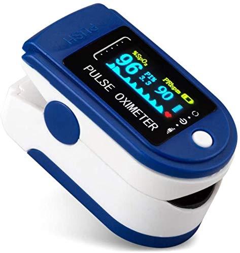 Jiujiuwanli Digitales Impulsionoẍy_mètre mit LED Farbbildschirm Multifunktional Sofortige Messgerät für Haushalt, Fitness und Extremsport (Mit Batterie)