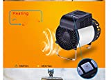 Warmwin Ventilador de Aire Acondicionado portátil pequeño para Exteriores, calefacción y refrigeración, Ventilador de Aire Acondicionado Dual de Alta eficiencia para Interiores y Exteriores, Blanco