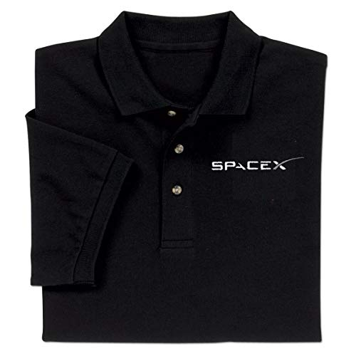 ComputerGear Elon Musk Falcon Dragon SpaceX Shirt Logo Polo Golf for Men Women Black L