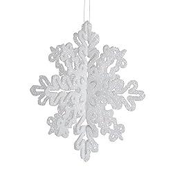 Darice 1629-53 4-Piece 3-D Snow Flake, 4-Inch, White