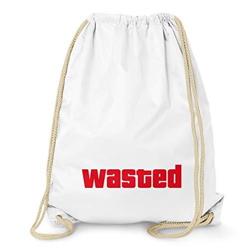 Texlab Wasted - Turnbeutel, weiß
