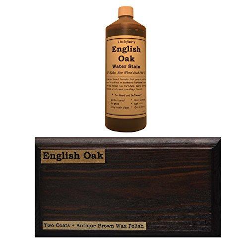 Littlefairs umweltfreundliche wasserbasierte Holzlasur und Farbe - Traditionelles Sortiment (500ml, englische Eiche)