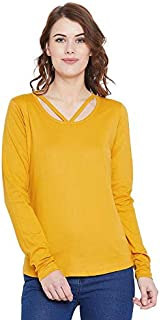 The Dry State Women's Slim Fit T-Shirt (G3901_Yellow_Small)