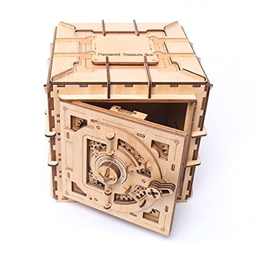 Zwbfu Rompecabezas De Madera 3D,Rompecabezas de madera 3D Caja de contraseña Kit de modelo mecánico Manualidades de autoensamblaje de bricolaje Juego de construcción Decoración de escritorio