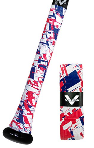Vulcan Bat Grip, Vulcan 1.75mm Bat Grip, Red, White & True