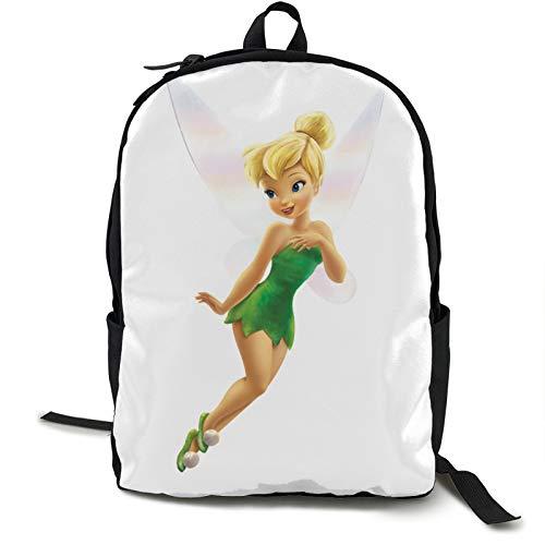 Yoohome Tinker-bell Schulranzen Mädchen Tagesrucksack Frauen Schultasche Damen Rucksack mit Laptopfach für Schule Uni Ausflug Büro