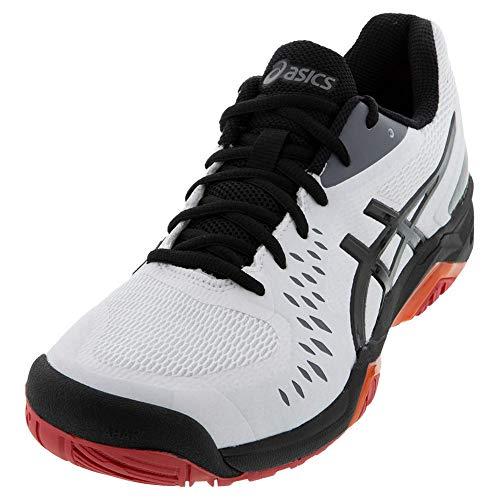 ASICS Men's Gel-Challenger 12 Court Shoes, 10, White/Black