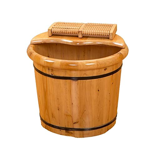 Check Out This Foot Bath Barrel,Thicken Wooden TubSolid Wood Foot Washing Barrel Household Foot Ba...
