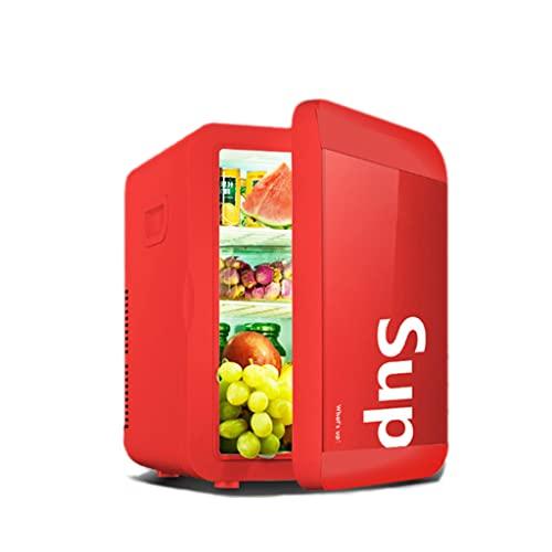 Mini Nevera para Habitacion 13.5L, Nevera Portatil 12 latas para Enfriar y Calentar, AC/DC Mini Refrigerador Pequeña Cosmeticos Silenciosa para Soda,Skincare,Alimentos,Bebidas,Cuidado de la piel,Red