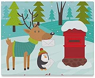 Arte de la pared Pintura Animales polares Enviar cartas Papá Noel Impresiones en lienzo La imagen Imágenes del paisaje Aceite para el hogar Decoración moderna Impresión Decoración para sala de estar
