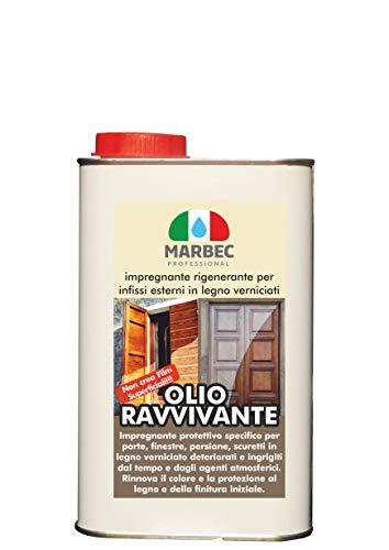 Marbec - Olio RAVVIVANTE 1LT | Impregnante rigenerante per infissi Esterni in Legno verniciati