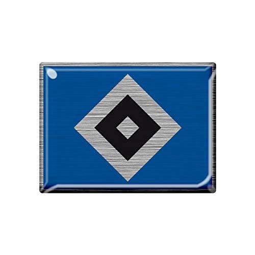 Hamburger SV HSV 3D-Aufkleber metallic Raute