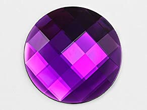 60mm Flat Back Round Acrylic Jewels Pro Grade Individually Wrapped - 2 Pieces (Purple Amethyst H105)