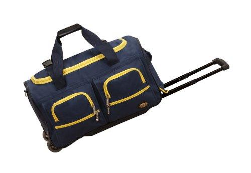 Rockland Unisex-Adult Rolling Duffel Bag, Navy