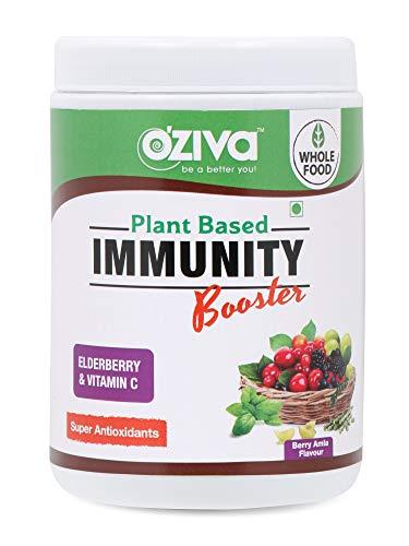 OZiva Plant Vitamin C with Giloy, Amla, Tulsi, Elderberry- Immunity Booster 250g