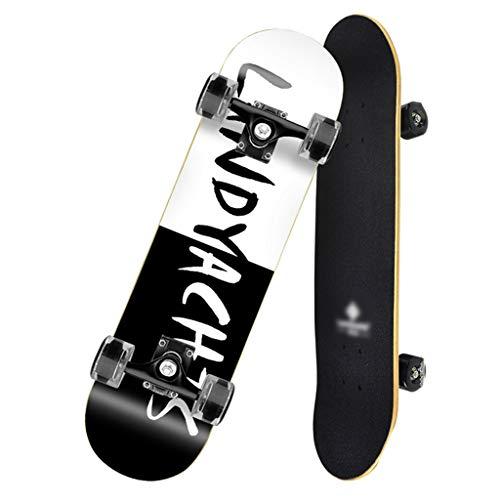 Skateboarden Mit Skateboardtasche Doppelt Gedrehtem Shortboard Street Allrad Anfänger, Teenager, Junge Und Mädchen Adult Professional Board (Color : B, Size : 78.7 * 13.5cm)