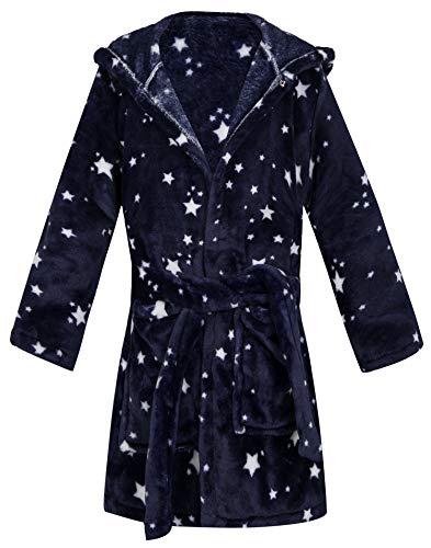 Kids Little Boys Girls Cartoon Animal Hooded Bathrobe Toddler Robe Pajamas Sleepwear (Stars robes, 2-3T)