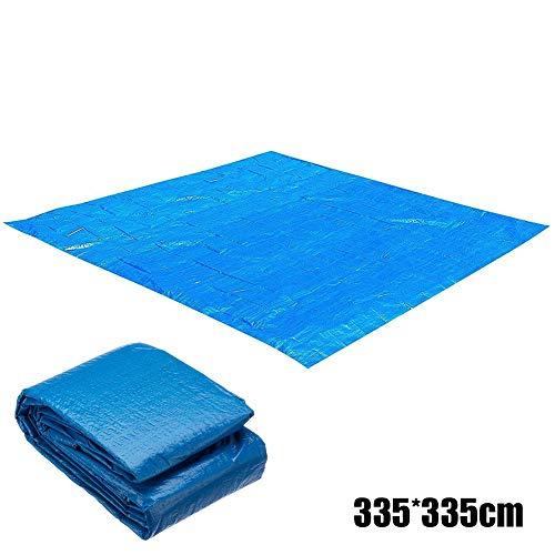 Lanceasy Poolmatte Bodenmatte Pool Outdoor Faltbare wasserdichte Planschbecken bodenmatte,Blau