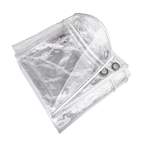 Lonas Impermeables Exterior, Lona De ProteccióN Impermeable Vaso Transparente, Plegable Lona Alquitranada para Prueba De Rasgaduras, Lona De PVC para Techo/Camping(1 * 7m(3.9 * 22.9ft))
