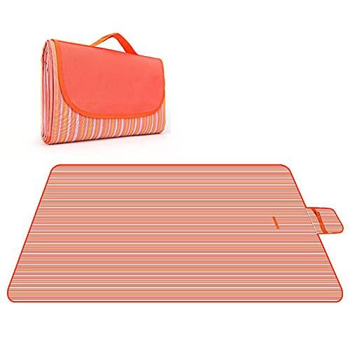 Manta de Picnic Impermeable Plegable Anti-Calor para Camping Playa Alfombra Estera del Césped de la Salida de la Primavera de la Comida Campestre del Paño de 600D Oxford,001,150 * 200cm