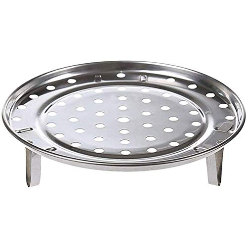 Round Stainless Steel Rack Inch Diameter Steaming Rack Stand Canner Canning Racks Steamer Stock Pot Steaming Tray Pressure Cooker Cooking Toast Bread Salad Baking (D=7.6')