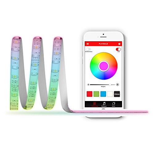 MiPow Playbulb Comet+ App-gesteuertes RGB LED-Lichtband / LED Streifen / Leuchtstreifen bis zu 5m, 1300 Lumen, 16 Mio Farben, Energieklasse A+, Bluetooth Smart, für Android und Apple