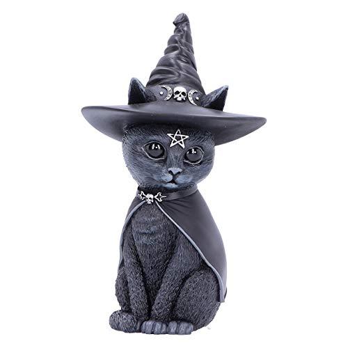 Nemesis Now Purrah Witches Hat Occult Cat Figurine, Black, 13.5cm Figura de Gato Oculto, Color Negro, 13,5 cm