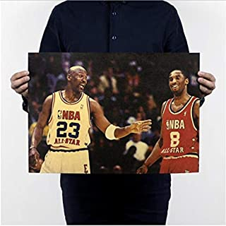 KGIDK Michael Jordan NBA MVP Retro Paper Poster Bar Room Decorate I Can Accept Failure, But Can Not Accept to Give Up! 5135.5Cm