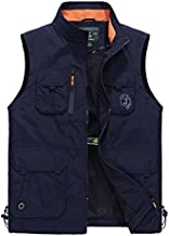 Gihuo Men's Lightweight Quick Dry Outdoor Multi Pockets Fishing Vest (Large, Style2-Navy)