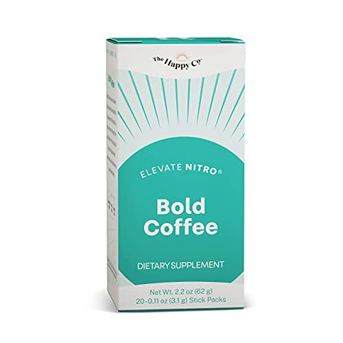 Elevacity - Elevate NITRO Nootropic Smart Coffee - Colombian Arabica Coffee with Antioxidants - Naturally Support Energy and Endurance Levels - Box with 20 On-The-Go Stick Packets