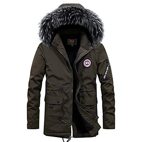 Mens Jacket Winter Thick Warm Fleece Zipper Men Hoodies Jacket Sportwear Male Streetwear Hoodies Bomber Jacket Men M Groen