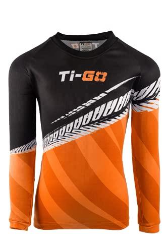 Ti-GO Kids Tech Maillot Ciclismo Turbo Naranja 3-4 años