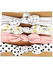4 Piezas turbante bebe niña algodón, turbante lazo niña