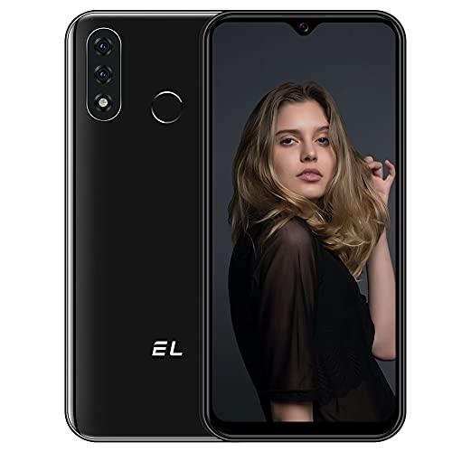 Smartphone Offerta del Giorno 4G, 6.1 Inch 3GB RAM 32GB ROM Cellulari Offerte Android 10, EL D60 PRO 4000mAh Batteria 13MP Tripla Fotocamera Dual SIM Telefonia Mobile,Face ID,Impronta Digitale Nero