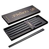 Goldage 5 pares de palillos de fibra de vidrio aptos para lavavajillas (Minimalismo Japonés - Flor flotante)
