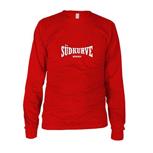 Südkurve München - Herren Langarm T-Shirt, Größe: XL, Farbe: rot