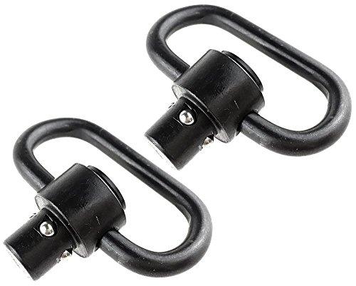 Airsoft magic Stahl QD Push Button Sling Swivel 2 Stück für (S) AEG/GBB Softair - Schwarz