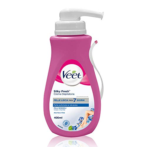 Veet Silk & Fresh Technology Crema Depilatoria Pelli Sensibili, 400 ml